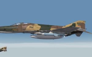 IRIAF F-4E with NASR-1 missiles