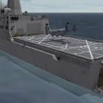 USS San Diego flight deck