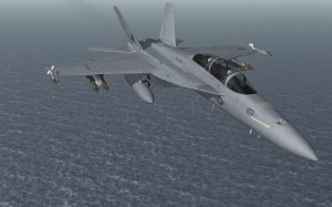 FA18 with laser guided bombs
