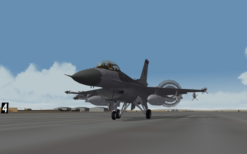 F-16 on roll out