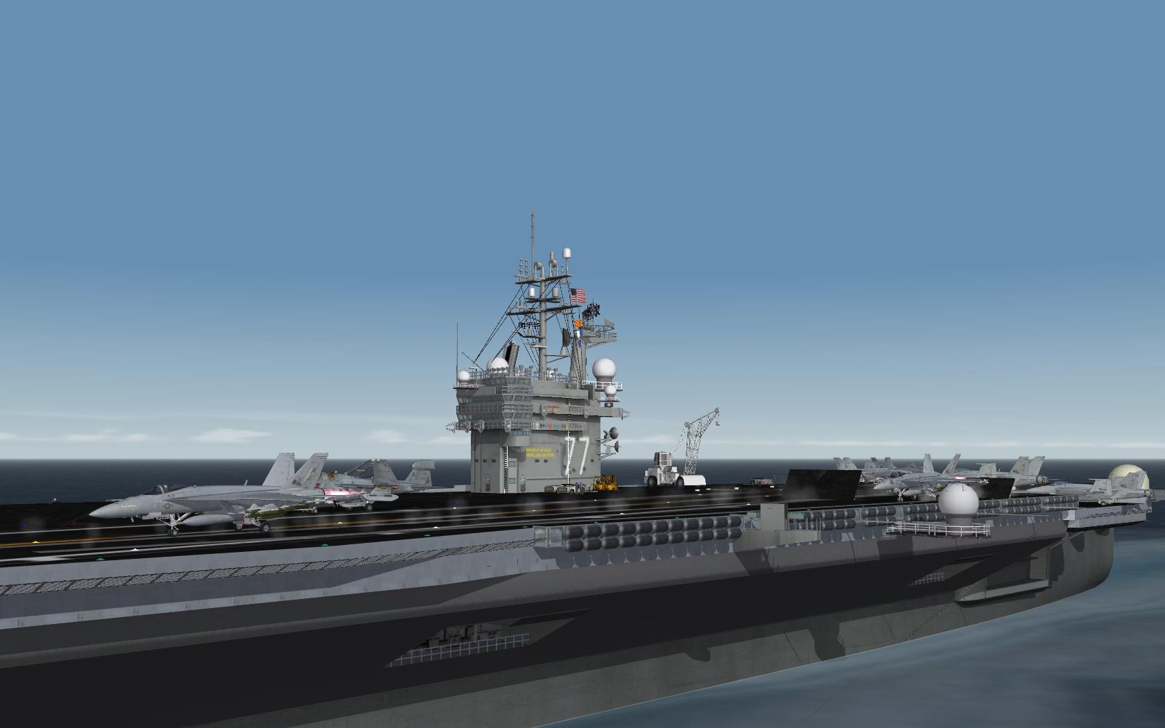 USS Bush Hammering ISIL