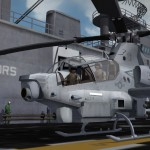 AH1Z on deck USS Bataan