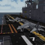 Harriers aboard an LHD