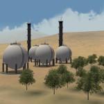 Gas Refinery at Nang, Iran