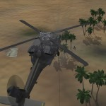 Pilot in palm grove