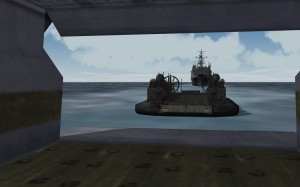 Hovercraft docking