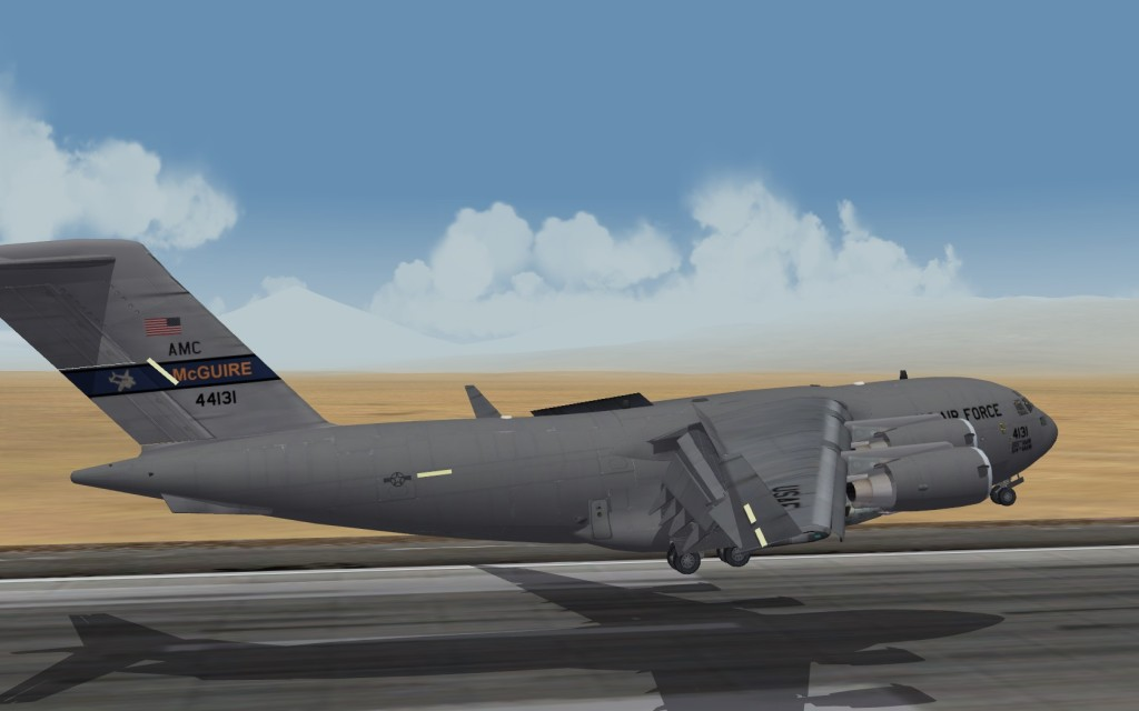 C-17 departing