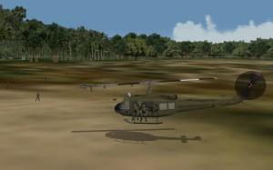 Hovering at landing spot