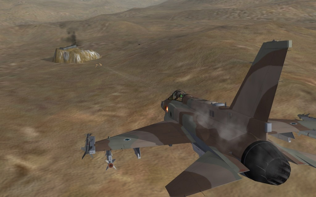 F-16i strafing at Fordow