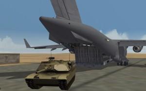 C17 unloading M1A1