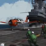 USS Lexington. Carrier Training in YAP Flight School