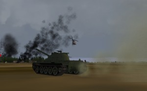 Tanks over running Saigon